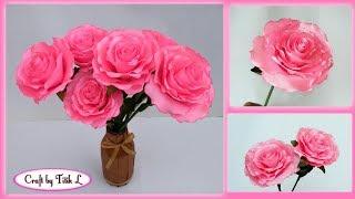 DIY How To Make Satin Ribbon Rose Flower Cara Membuat Bunga Mawar dari Pita Satin