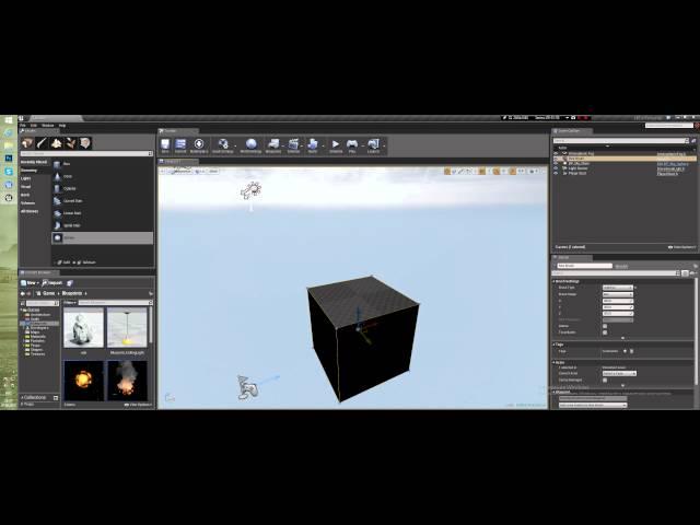 Создание уровня в Unreal Engine 4 - Разбираем BSP браши (Урок неактуален)