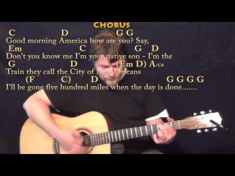 The City of New Orleans (Arlo Guthrie) Strum Guitar Cover Lesson with Chords/Lyrics