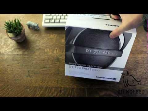 Beyer Dynamic DT770-Pro Headphones Unboxing