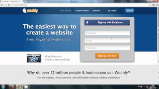 Webdesign#1: Weebly: How to make a website for free , Make a Free Website