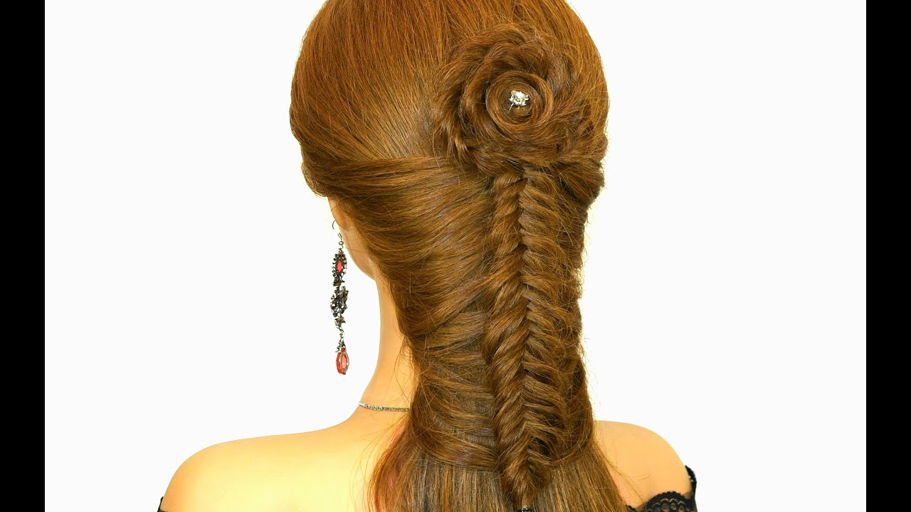 easy braided hairstyle for long hair tutorial - youtube