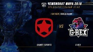 GMB vs GRX — ЧМ-2018, Плей-ин, День 1, Игра 2