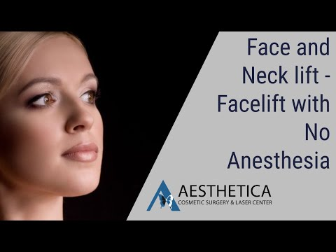 Face and Neck lift - Facelift with No Anesthesia - Live Surgery - Dr. Phillip Chang MD