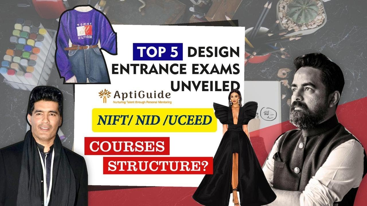 Top 5 Entrance Exams For Design In India Career In Designing Youtube