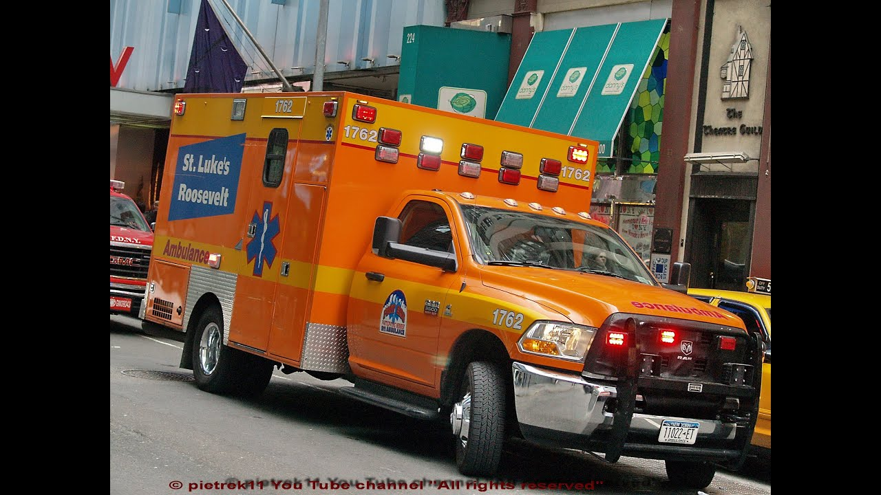 AMBULANCES RESPONDING New York Ambulance Sirens Sound Effect 2015 HD C