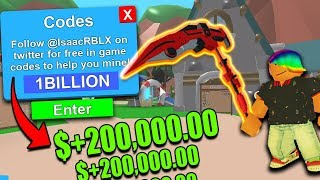 (10+) *LEGENDARY* CODES In ROBLOX MINING SIMULATOR | Free crates,mythicals,tokens,dominus,rebirth