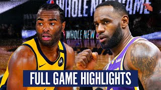 LA LAKERS at INDIANA PACERS - FULL GAME HIGHLIGHTS | 2019 - 20 NBA Season