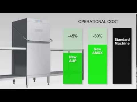 hobart amx series pass through dishwashers youtube rh youtube com