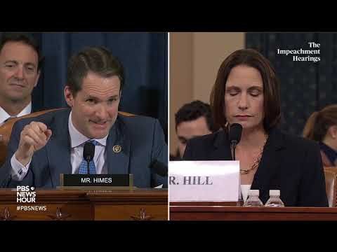 WATCH: Rep. Jim Himes' full questioning of Hill and Holmes | Trump impeachment hearings