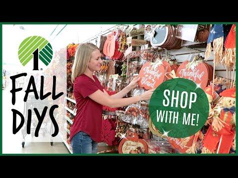 DOLLAR TREE FALL HAUL! 🍂🍁 DIYs and Shop with Me 2018! 🍂🍁