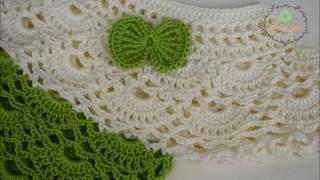 Gambar cover بلوزة كروشيه بناتى 1 how to crochet a blouse