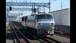 甲種輸送 EF66 105号機+HD300 28号機+ヨ8000形 蒲郡駅通過