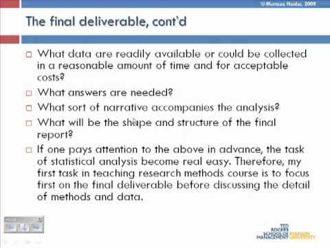 Lecture 1: Intro to research methods