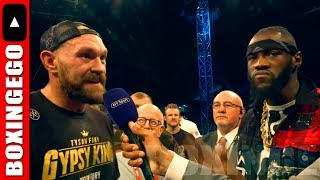 MAN FANS UPSET DEONTAY WILDER AND TYSON FURY SHOOK EM UP! NEW MEDIA THE ARMY WIN AGAIN!