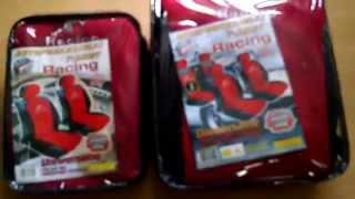 Видеообзор на чехлы майки на сидения Racing производство Польша, фирма Milex