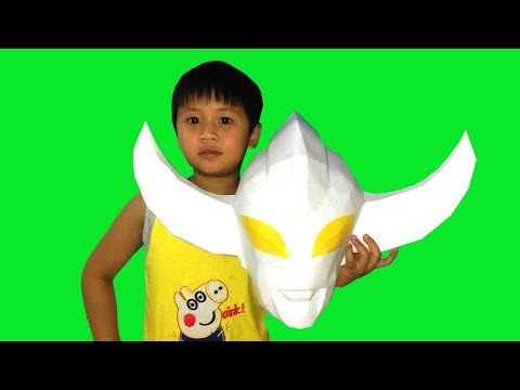 Ultraman PaperCraft - How to make Ultra Orb Burnmite Mask 3D