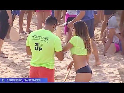 Santander bate el récord mundial de personas jugando a las palas en la misma playa : El Sardinero