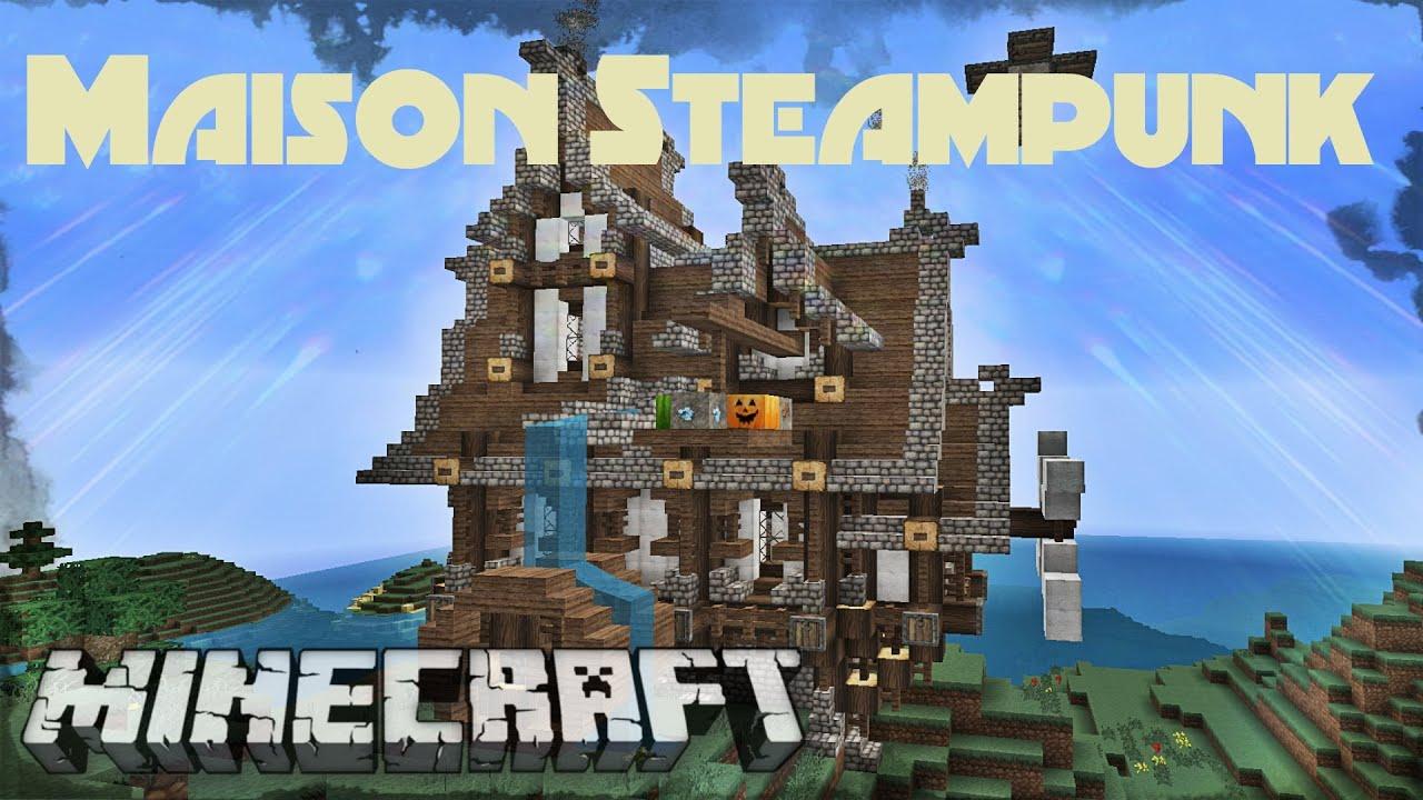 Minecraft maison moderne maison steampunk