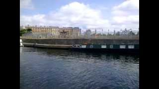Boat trip to Hampton Court Palace from Kingston upon Thames, Surrey, England