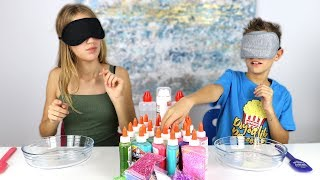Download MAKING SLIME BLINDFOLDED!!! Mp3 and Videos