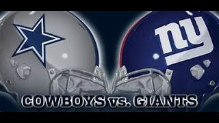 New York Giants Vs. Dallas Cowboys Live Stream 2nd Half Reaction