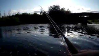 Рыбалка на реке Ай. Щучки на спинниг. Лето 2015 года.