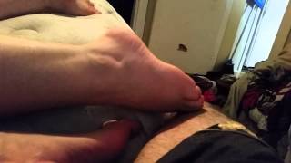 My wife being a bully with her foot (sexy chubby b