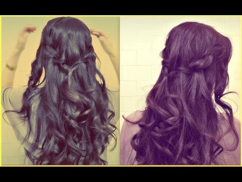 HOW TO WATERFALL ROPE BRAID HAIRSTYLES FOR MEDIUM LONG HAIR TUTORIAL