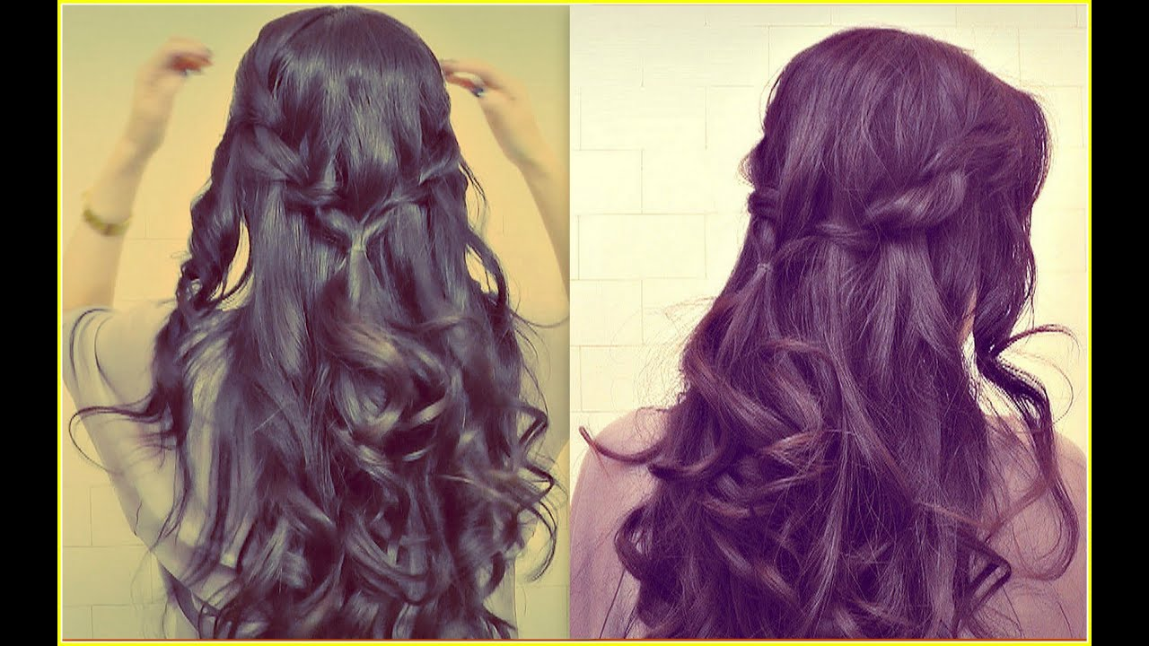 Easy prom half up updo how to waterfall rope braid hairstyles for easy prom half up updo how to waterfall rope braid hairstyles for medium long hair tutorial youtube solutioingenieria