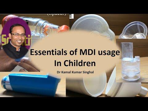Metered Dose Inhaler (MDI): Essential steps for using MDI in children