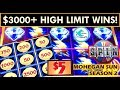 MR. CT WINS BIG IN HIGH LIMIT ROOM! LIGHTNING LINK SLOT MACHINE, THUNDER CASH, WHEEL OF FORTUNE