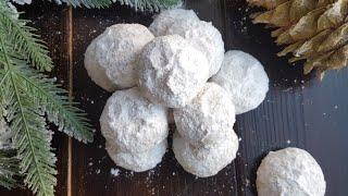 """ПЕСОЧНОЕ печенье """"СНЕЖКИ""""❄SNOWBALL cookie recipe [ПРОСТОЙ РЕЦЕПТ] #печенье #янабенрецепты"""