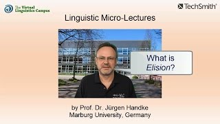 Linguistic Micro-Lectures: Elision