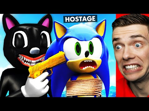 Rescuing HOSTAGE SONIC From CARTOON CAT In GTA 5 (Scary)