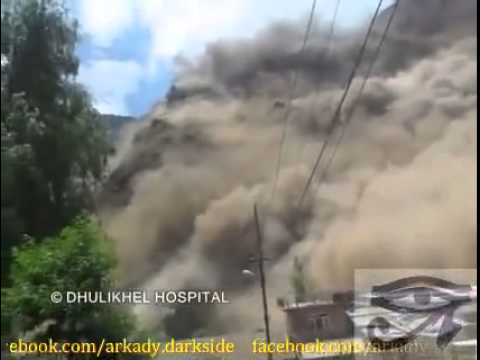 Raw Footage of earthquake at dhulikhel hospital may 12, 2015
