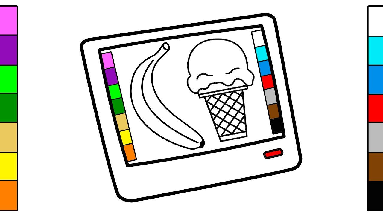 Tablet Pc Coloring Pages Drawing Youtube