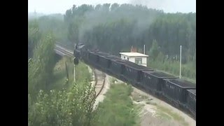 Steam of Yanzhou Coal Mines Railway China(Aug.2007) 1 中国・兖州(ヤン州、充州)炭鉱鉄道の蒸気機関車(2007年8月) 1