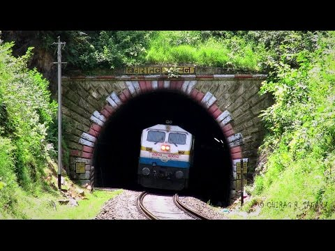 TRAINS THROUGH TUNNEL ! EMD + ALCo ACTION INDIAN RAILWAYS