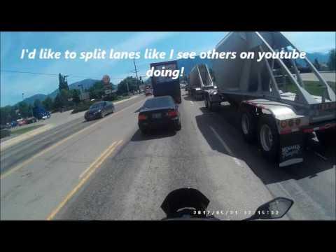Riding through Columbia Falls, MT
