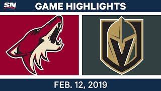 NHL Highlights | Coyotes vs. Golden Knights - Feb 12, 2019