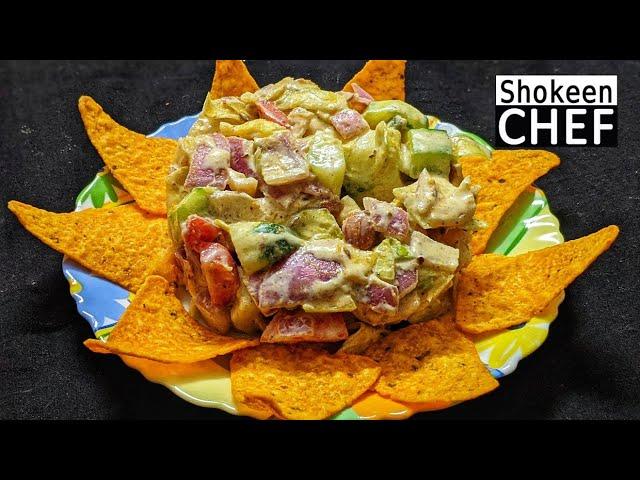 Punjabi Desi Ghee Tadke Wala Salad   Shokeen Chef by Bhooka Saand