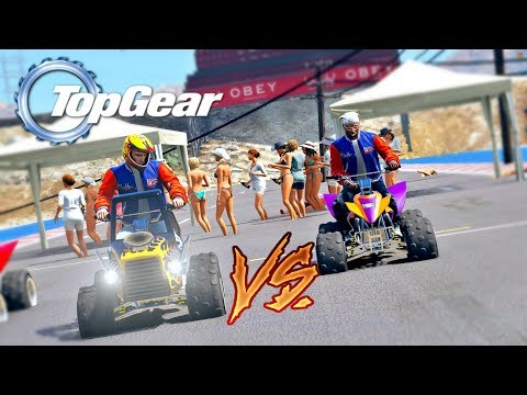 GTA V: TOP GEAR | QUADRICICLO MONSTRO vs QUADRICICLO NORMAL , QUAL É O MAIS RÁPIDO?