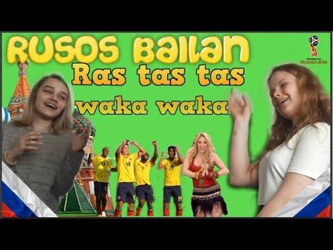 Rusos bailando el Ras tas tas y el Waka Waka