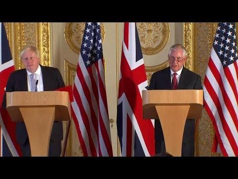 Press Availability With U.K. Foreign Secretary Boris Johnson