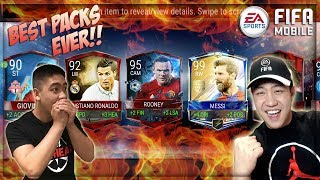 FIFA MOBILE MY BEST PACK OPENINGS EVER MONTAGE!!