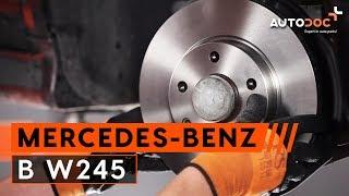 Guide: Sådan udskifter du bremseskiver foran, bremseklodser foran på MERCEDES-BENZ B W245