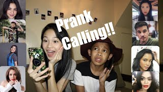 PRANK CALLING OUR FRIENDS??!! (ANDREA B, ARJO ATAYDE && MORE) // Andree Bonifacio