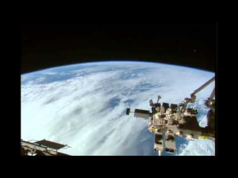 Ufo NASA Cuts live Feed again!Grey Object on live feed ISS Spacestation