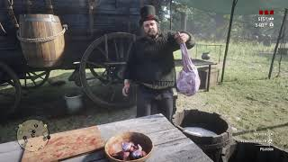 RDR II - Pearson is cooking some nice ass food